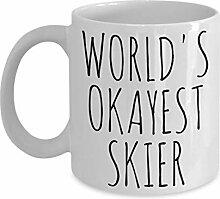 Gale66Lucy Worlds Okayest Skier Tasse Most Okay