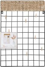 Galerierahmen aus Stroh und schwarzem Metall 40x60