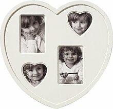 Galerierahmen  Cuore, für 4 Fotos, weiss, Herzform