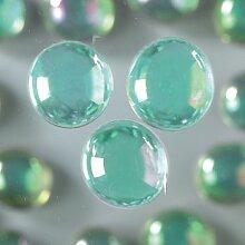 Galet Nuggets von farbigem Glas schillernd,