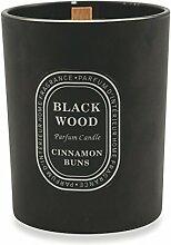 Galileo Casa Black Wood Duftkerze, Wachs/Glas,
