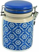 Galileo Casa Marrakesch Vorratsdose luftdicht, Keramik, hellblau