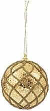 Galileo Casa Rauten Set Christbaumkugel, Gold,