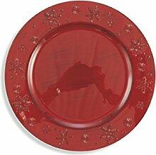 Galileo Casa Sterne Platzteller, Rot, 33cm