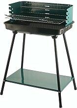 Galileo Casa viereckiger Barbecue-Grill Grün 56X37 H.82 cm Grün