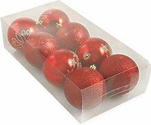 Galileo Casa Weihnachten Set Christbaumkugel, rot,