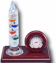 Galileo thermometer and clock desk se