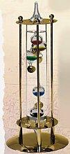 Galileo Thermometer mit Metallgehäuse- vergoldet