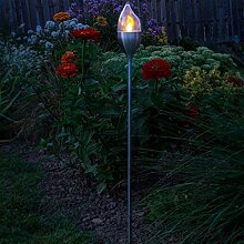 Galix 8517Dekoration Solar Flamme Stahl Silber
