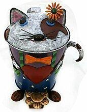 Gall & Zick - Papiertonne Katze mit Fliege - Abfalleimer - Mülleimer