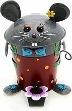 Gall & Zick - Papiertonne Maus mit Fliege - Abfalleimer - Mülleimer