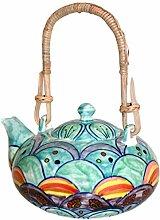 Gall&Zick Teekanne Kanne Keramik handbemalt
