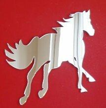 Galoppierender Pferd Spiegel 20cm x 16cm