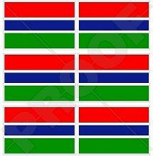 GAMBIA, Gambian Flagge Commonwealth, Westafrika