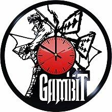 Gambit Decor Wanduhr aus Vinyl – originelle