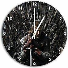 Game of Thrones Bild auf Wanduhr mit weißen
