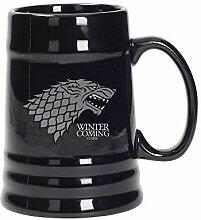 Game of Thrones Stark Wappen Bier Krug mit
