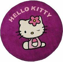 GamePoint Hello Kitty Teppich Lila, ca. 70 cm Ø