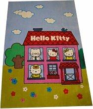 GamePoint Kinderzimmer Hello Kitty Teppich Blau,