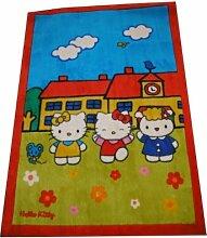 GamePoint Kinderzimmer Hello Kitty Teppich Rot,