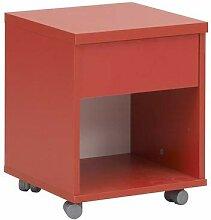 Gami Mobile Einheit, Holz, Weiß/Rot, 36x 36x