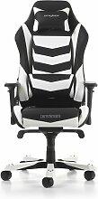 Gaming-Stuhl Iron DXRacer Farbe: Schwarz/Weiß