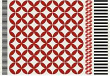 GAN Kilim Catania Teppich, rot weiß schwarz
