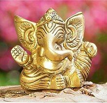 Ganesha 5,5 cm Messing antik Statue - Esoterik