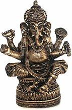 Ganesha Figur Deko Buddha Figur sitzen auf Lotus