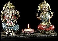 Ganesha Figur mit Krishna - Teelichthalter