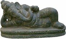 Ganesha liegend, Figur aus Steinguss