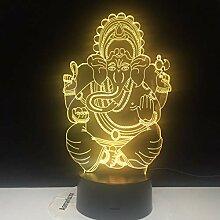 Ganesha personalisierte USB 3D LED Nachtlicht