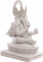 Ganesha Statue Weiss Hinduismus Buddha buddafigur