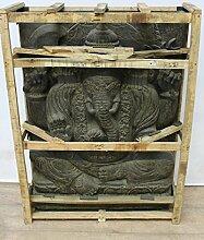 Ganesha Steinfigur Gartendeko Figuren Groß Steinfiguren Relief Steinfiguren Stein 120 cm