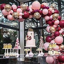 Ganjuan 112 Stück/Satz von Baby-rosa Ballon