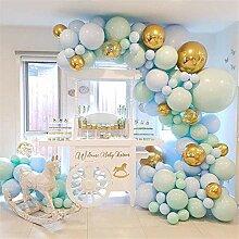Ganjuan 124pcs / Satz von blauem Ballon Girlande