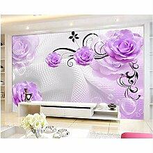 Ganjue 3D Stereoskopische Tapete Purple Rose