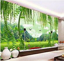 Ganjue Tapete 3D Für Raum Grünes