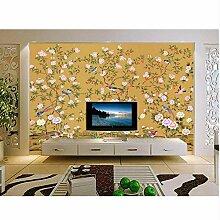 Ganjue Tapete 3D Für Raum Handgemalte Blumen Und