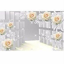 Ganjue Tapete 3D Für Raum Rosen-Muster