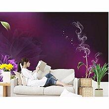 Ganjue Tapete 3D Für Roomv Blüht Purpurrote