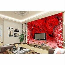 Ganjue Tapete Für 3D Home Decoration Rote Rose