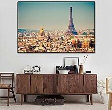 ganlanshu Rahmenlose Malerei Moderne Pariser Turm