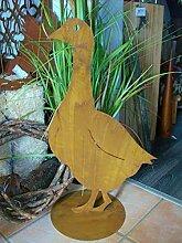Gans in Edelrost auf Platte 30cm x 45cm Osterdekoration 1 STÜCK