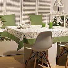 Ganze Baumwolle Frischer Pastoral Stoff Tisch Tuch/Tischtuch/Tee Tischdecke-A 110x110cm(43x43inch)