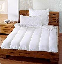 Ganzjahresdecke Bettdecke 135x200cm Mikrofaser Hygiene 95° Liniensteppung