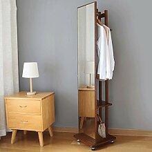 Ganzkörper-Spiegel-Bodenspiegel aus massivem Holz