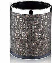 GAO® Mülleimer Leder Doppel Müll kreative Wohnzimmer Küche Haus europäischen Stil Mülleimer Trommelform keine Abdeckung robust und langlebig.