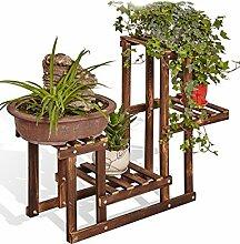 GAOCHAOXIANGHJ Blumenregal Holz Bodenart 4. Stock Blumentopf Regal europäischer Stil Innen- draussen Einlegeböden Pflanzenregale ( farbe : B , größe : 56cm*25cm*65cm )