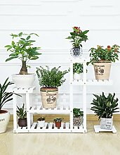 GAOCHAOXIANGHJ Blumenregal Holz Bodenart 5. Stock Blumentopf Regal europäischer Stil Innen- draussen Einlegeböden Pflanzenregale ( farbe : D )